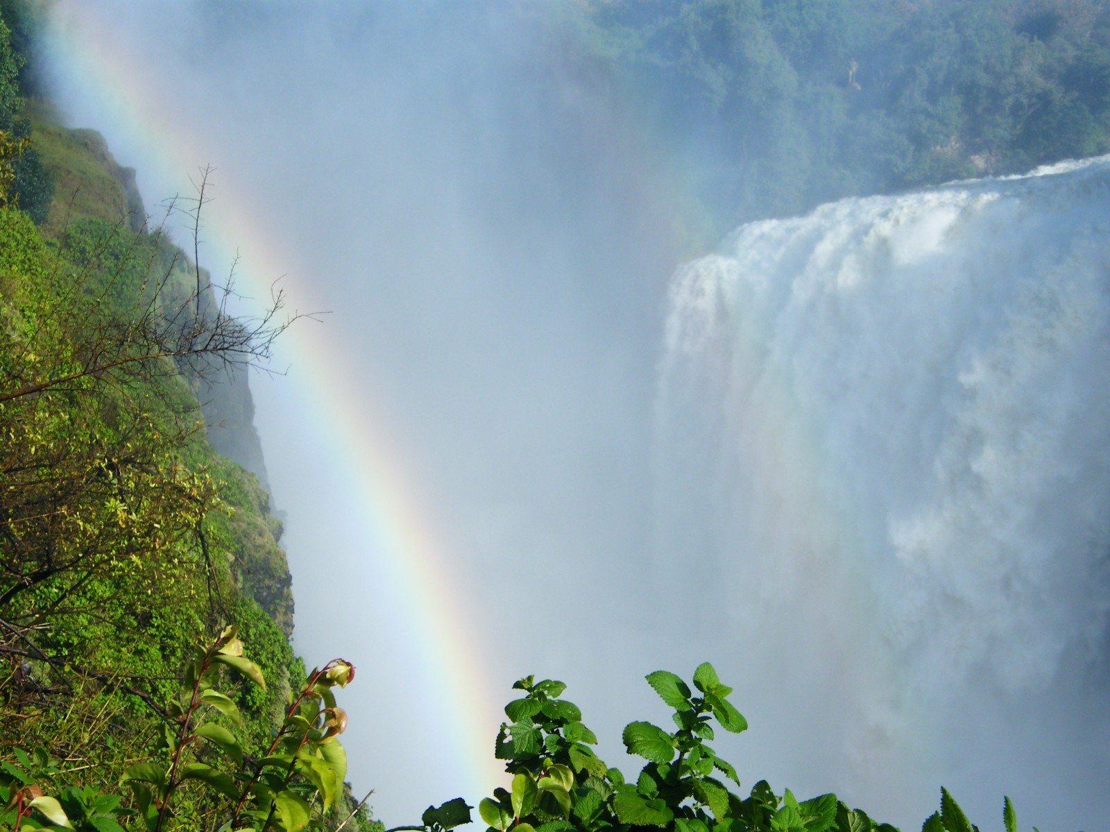 Victoria Falls from Zimbabwe, photo by Kim Green